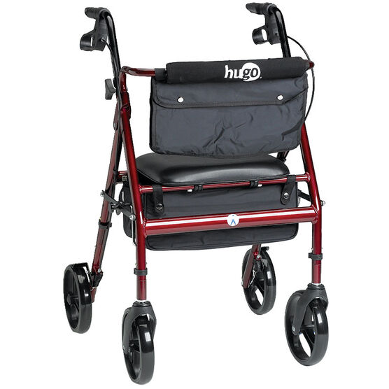 Hugo Elite Rolling Walker Seat - Garnet Red - 700-961