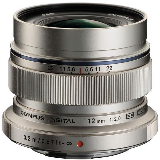 Olympus M.Zuiko 12mm f2.0 Lens - Silver - V311020SU000