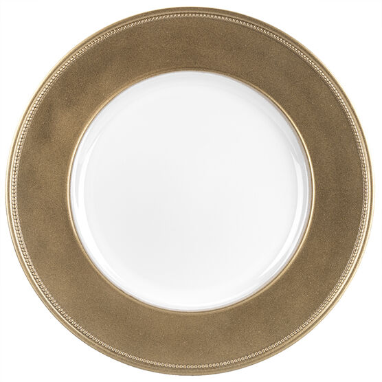 London Home Charger Beaded Plate - 13in - Gold