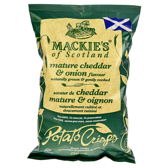 Mackie's of Scotland Potato Crisps - Mature Cheddar & Onion - 150g