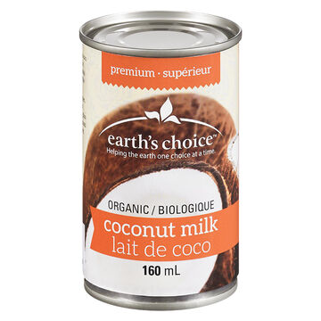 Earth's Choice Organic Premium Coconut Milk - 160ml