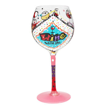 London Drugs Hand Painted Wine Glass - 18oz - Assorted