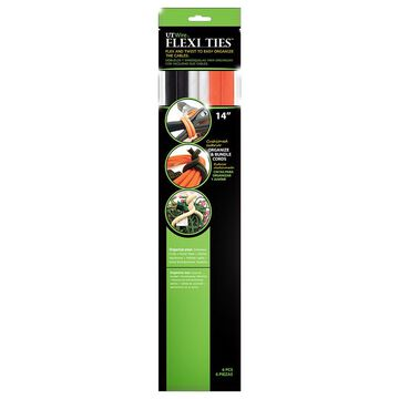 UT Wire Flexi Ties - 14 inch - Orange/Grey/Black - 6 pieces