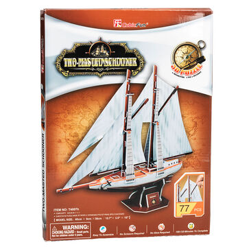 Two-Masted  Schooner - 3D Puzzle