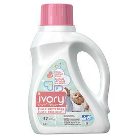Ivory Snow Liquid Laundry Detergent - Active Baby - 1.47L