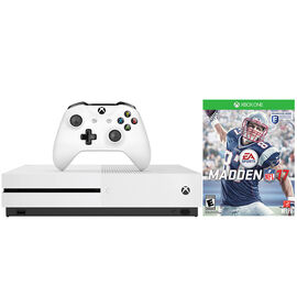 Xbox One S 1TB Console with Madden NFL 17 Bundle