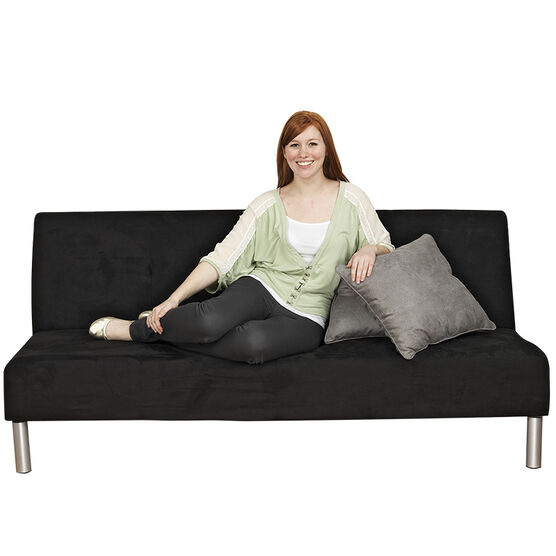 London Drugs Dorm Microfibre Futon - Black - 180 x 100 x 40cm