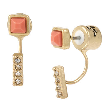 Kenneth Cole Earrings - Crystal/Coral