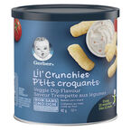Gerber Graduates for Toddlers Lil' Crunchies - Veggie Dip - 42g
