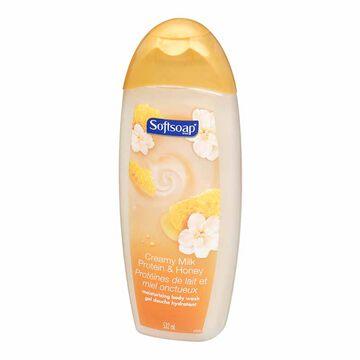 Softsoap Milk Protein & Honey Body Wash - 532ml