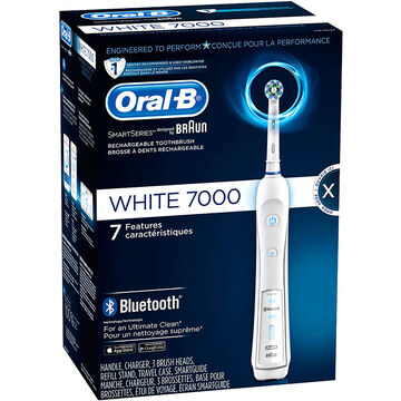 Oral-B White 7000 Electric Toothbrush Bluetooth with SmartGuide