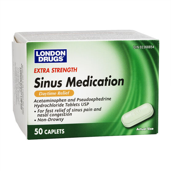 London Drugs Extra Strength Sinus Medication - 50 caplets