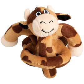 Happy Brown Cow with Sound Dog Toy