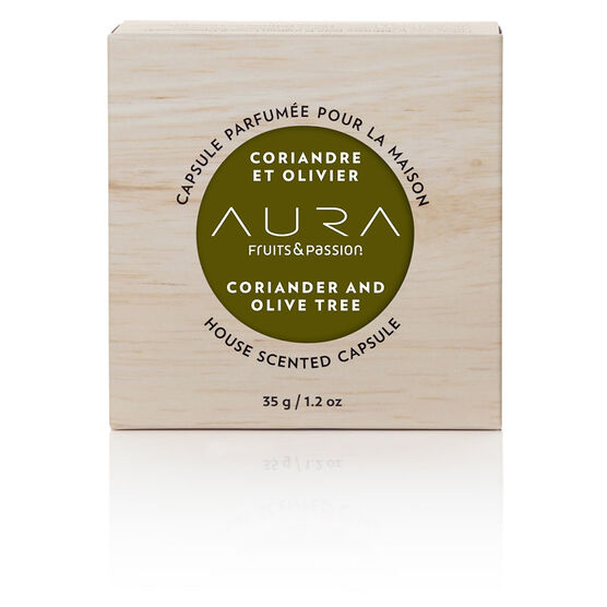 Fruit & Passion Aura House Scented Wax Capsule - Coriander and Olive Tree - 35g