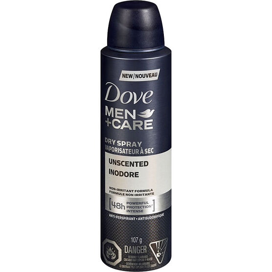 Dove Men+Care Dry Spray Anti-Perspirant - Unscented - 107g