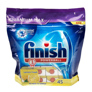 Finish Quantum Dishwasher Soap - Lemon Sparkle - 45's