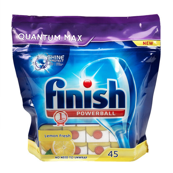 Finish Quantum Dishwasher Soap - Lemon Sparkle - 45's