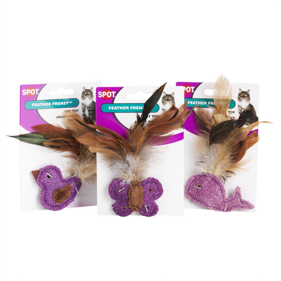 Feather Frenzy Cat Toy - Assorted