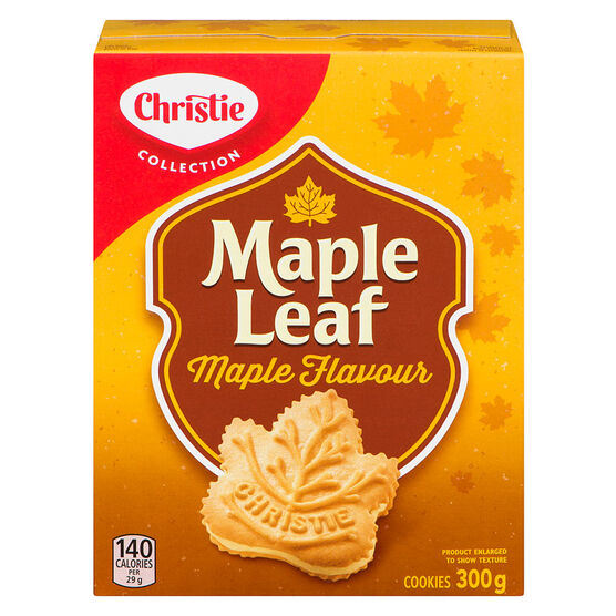 Christie Maple Leaf Cookies - Maple - 300g