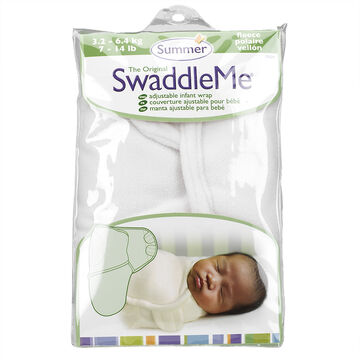 Summer Infant SwaddleMe Cloth - 7-14 lbs - Ivory Microfleece