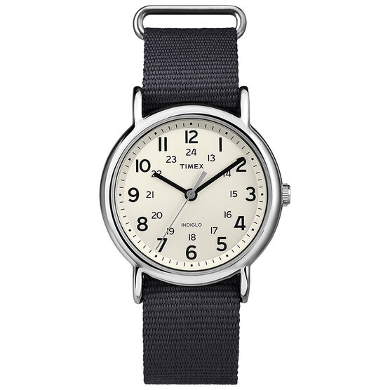 Timex Weekender Fashion Watch - Cream/Grey - T2P467GP