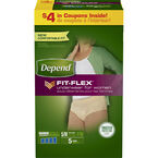 Depend Flex-Fit Underwear for Women - Small/Medium 5's