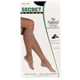 Secret Deluxe Knee High's - Black - 2 pair