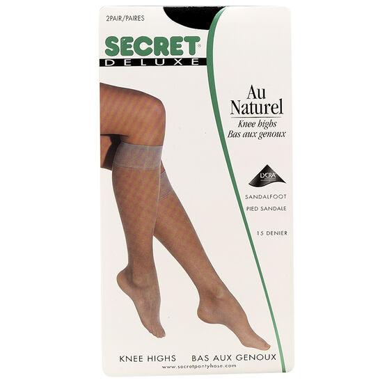 Secret Deluxe Knee High's - Black - 2 pair