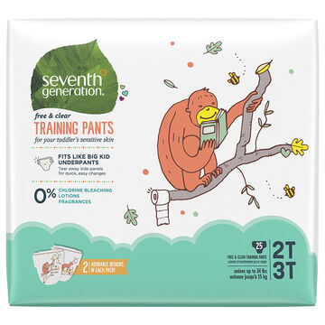 7th Generation Training Pants - 2T/3T - 25's