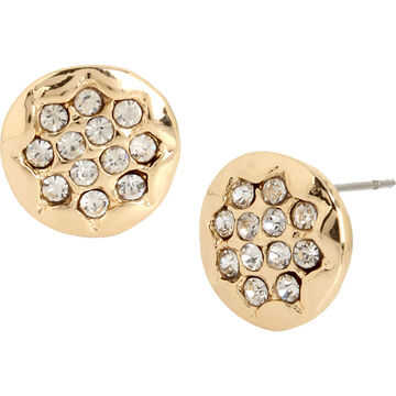 Haskell Textured Stud Earrings - Gold
