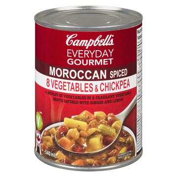 Campbell's Everyday Gourmet Soup - Moroccan Spiced 8 Vegetables & Chickpea - 540ml
