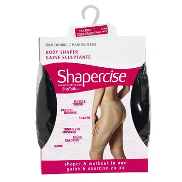 Shapercise Waist to Knee - 2/Extra Large - Black