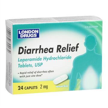 London Drugs Diarrhea Relief - 24 caplets