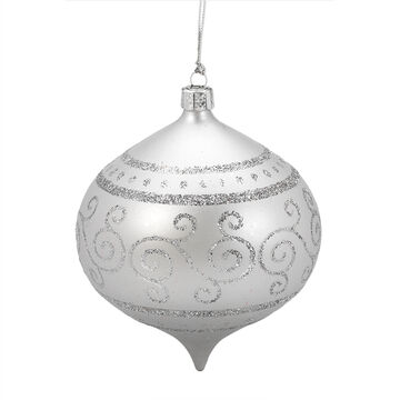 Winter Wishes Blue Ice Onion Ornament - Silver