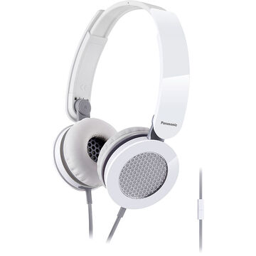 Panasonic Sound Rush On Ear Headphones - White - RP-HXS200MW