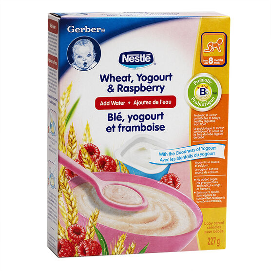 Nestle Baby Cereal With Milk- Wheat Yogurt & Raspberry - 227g