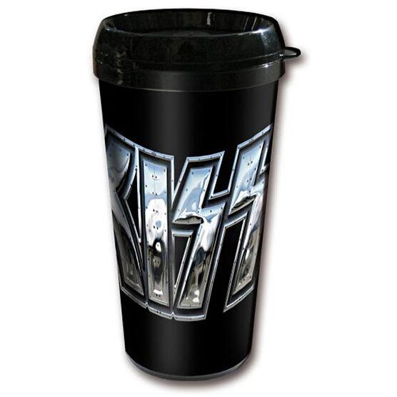 Kiss Chromo Logo Travel Mug