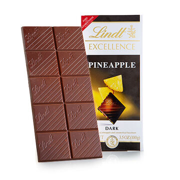 Lindt Excellence Chocolate Bar - Pineapple - 100g