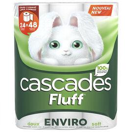 Cascades Fluff Enviro Double Roll Bathroom Tissue - 24's
