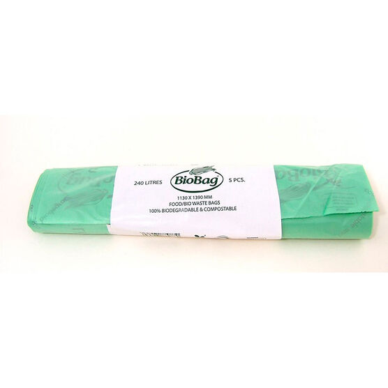 BioBag Compostable Garbage Liners - 5 pack/240L