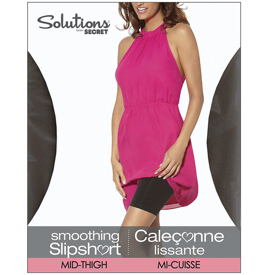 Secret Solutions Mid-Thigh Slipshort -Large - Black