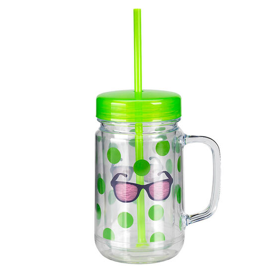 London Drugs Mason Jar Drinking Mug - Glasses - 24oz