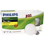 Philips Globe 9w Compact Fluorescent Bulb - Soft White - 3 pack