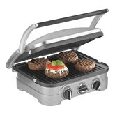 Cuisinart Griddler - Brushed Stainless Steel - CGR-4NC