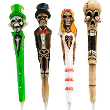 Hand Painted Skeleton Pens - Assorted