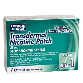 London Drugs Transdermal Nicotine Patch Step 1 - 21mg - 7's