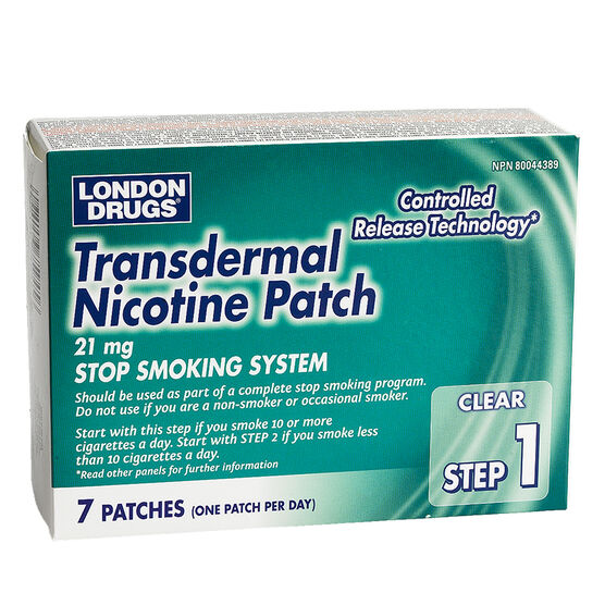 London Drugs Transdermal Nicotine Patch Step 1 - 21mg - 7's