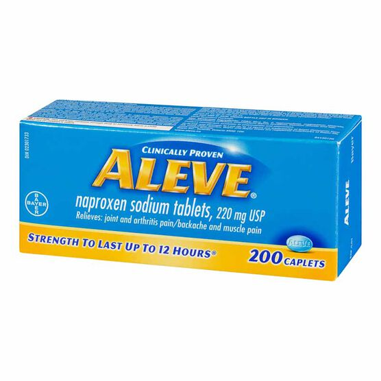 Aleve 220mg Caplets - 200's