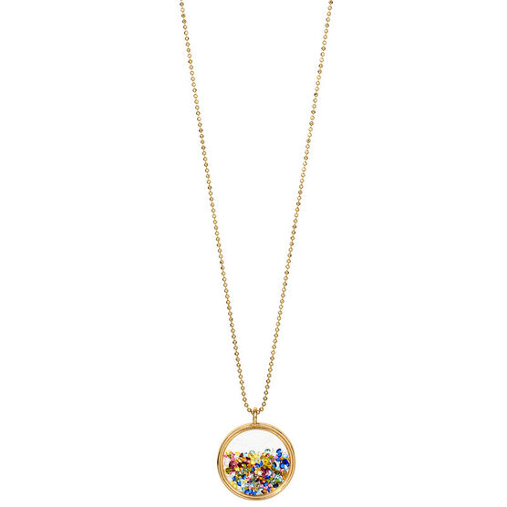 Betsey Johnson Confetti Shaky Pendant Necklace - Multi