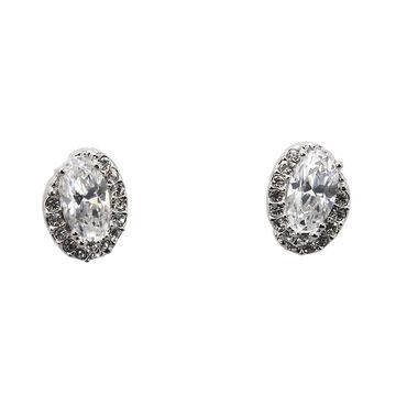 Eliot Danori Ondine Stud Earrings - Rhodium